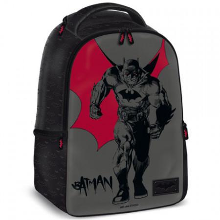 Ghiozdan ergonomic de scoala gri  44 cm Batman