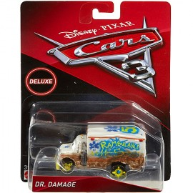 Poze Masinuta Metalica Ambulanta Dr. Damage Disney Cars 3