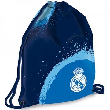 Sac de umar albastru cu snur Real Madrid