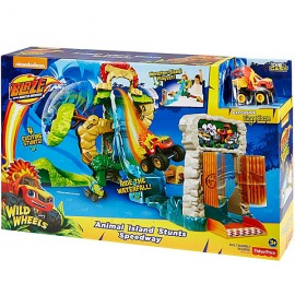 Poze Set Circuit Cascadorie pe Insula Animalelor - Blaze and the Monster Machines
