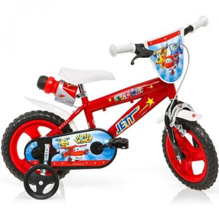 """Bicicleta pentru copii cu roti ajutatoare si sticla de apa 12"""" Super Wings"""