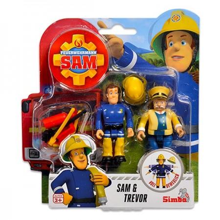 Set 2 Figurine Sam Pompierul - Sam si Trevor