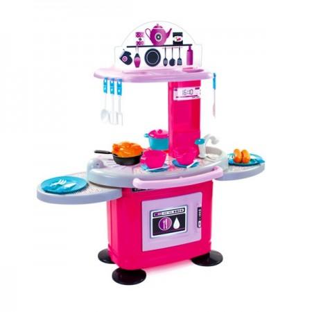 Set bucatarie roz Chefs cu 26 accesorii