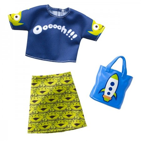 Set haine Barbie - Bluza si Fusta cu model Toy Story 4