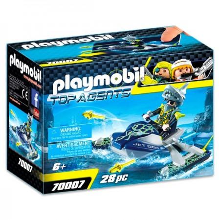 Set de joaca Jet Ski-ul echipei S.H.A.R.K Top Agents Playmobil