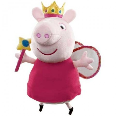 Figurina de plus Peppa Pig 35 cm Zana Printesa Peppa