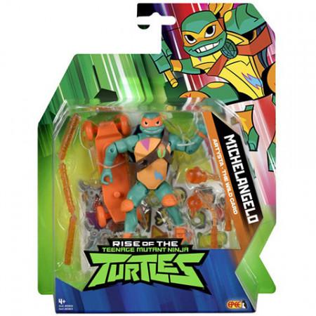 Figurina Michelangelo The Wild Card cu accesorii - Testoasele Ninja - Teenage Ninja Mutant Turtles