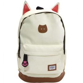 Ghiozdan de scoala alb Street Cat 45 cm