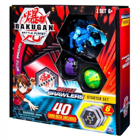 Set Bakugan Start cu 3 figurine Aquas Garganoid, Ventus Fangzor, Darkus Hydorous