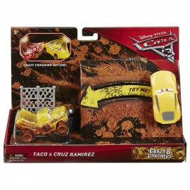 Poze Set de masinute Taco si Cruz Ramirez Crazy 8 Crashers Cars 3