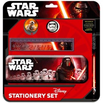 Set de papetarie cu penar Star Wars