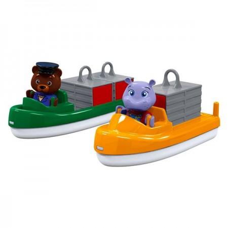 Set figurine si nave de transport AquaPlay