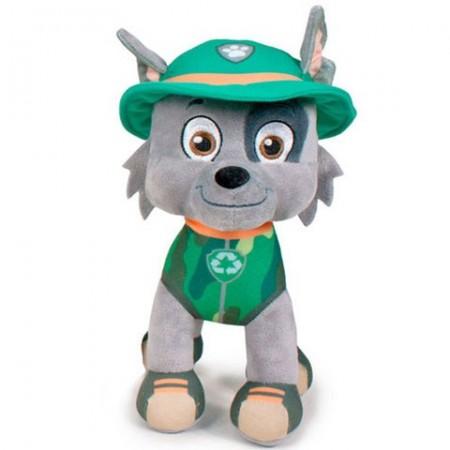 Figurina de plus Rocky 27 cm Jungle Rescue Patrula Catelusilor