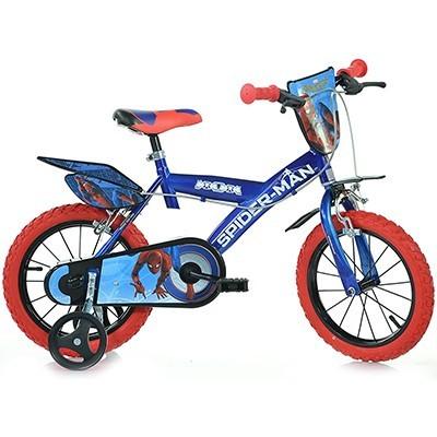 "Bicicleta pentru copii cu roti ajutatoare 16"" Spiderman Homecoming"