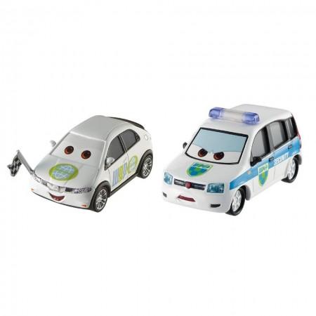 Set 2 masinute metalice Alex Carvil si Erik Laneley Disney Cars 3