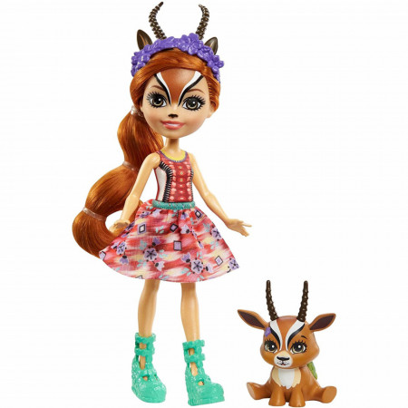 Papusa Gabriela Gazelle si figurina Racer EnchanTimals