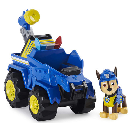 Set de joaca Chase si Super vehiculul Rev-Up Paw Patrol Dino Rescue - Patrula Catelusilor