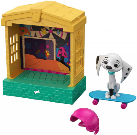 Set Figurina Dolly si casuta lui Strada Dalmatieni 101 Disney