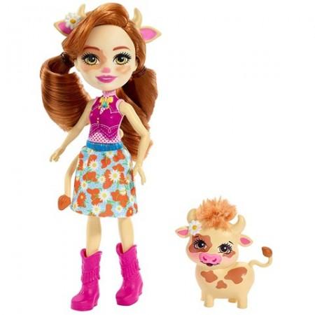 Papusa Cailey Cow si figurina Curdle EnchanTimals