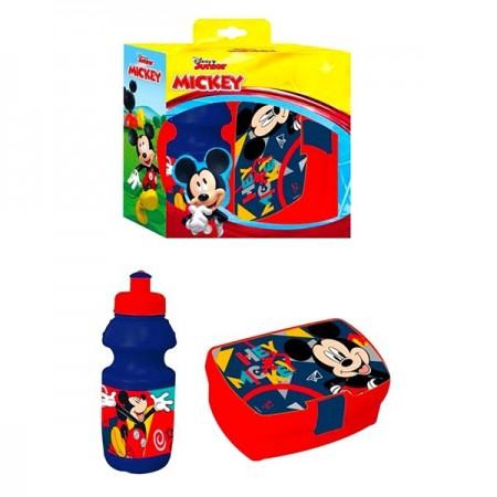 Set pentru pranz cu sticla si cutie de sandwich Mickey Mouse