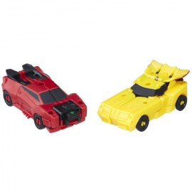 Poze Figurine Robot Sideswipe si Bumblebee Transformers Combiner Force
