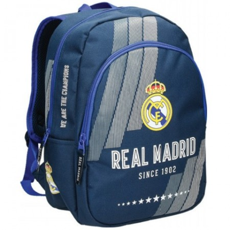 Ghiozdan rucsac FC Real Madrid cu 2 compartimente, 34 cm