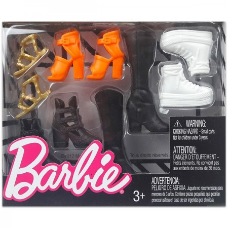 Haine Barbie set incaltaminte 5 perechi