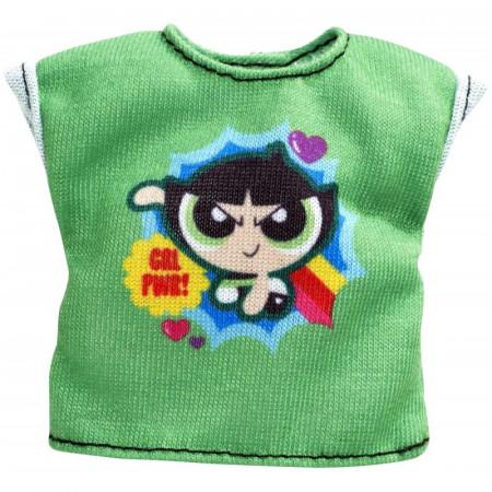 Haine Barbie - Tricou verde cu imprimeu Powerpuff Girls