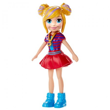 Polly Pocket figurina Polly in fusta rosie