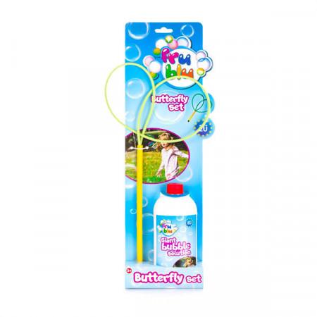 Set baloane de sapun cu accesoriu fluture Fru Blu