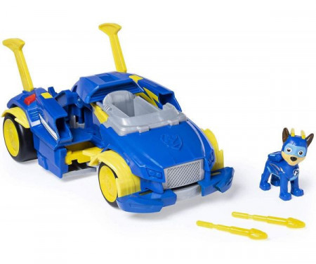 Set Chase si Super Masina de Politie transformabila Power Up Paw Patrol Mighty Pups - Patrula Catelusilor