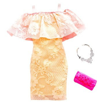 Set haine Barbie - rochie din dantela accesorizata