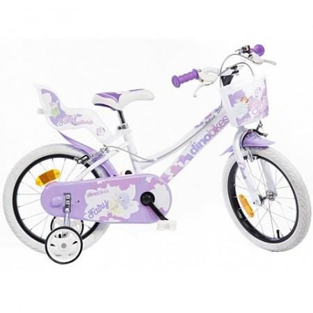 Bicicleta pentru copii cu roti ajutatoare si cosulet roz 16''