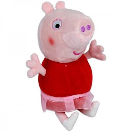Figurina de plus Peppa Pig 25 cm Peppa cu fusta