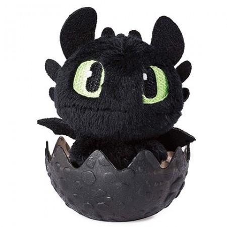 Figurina de plus Toothless (Stirbul) in ou negru - Cum sa-ti dresezi dragonul