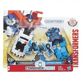 Poze Figurine Robot Optimus Prime si Strongarm Transformers Combiner Force Robots in Disguise