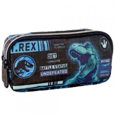 Penar dreptunghiular cu doua compartimente Jurassic World T-Rex