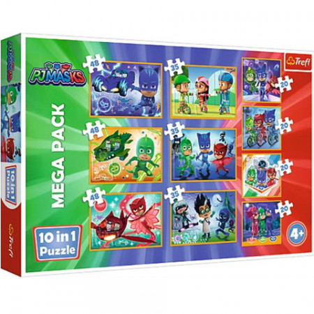 Puzzle Eroi in Pijama 10 in 1 - 20, 35 si 48 piese