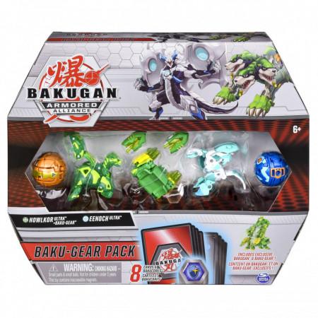 Set 4 Bakugan Armored Alliance Baku-Gear figurine Howlkor Ultra si Eenoch Ultra