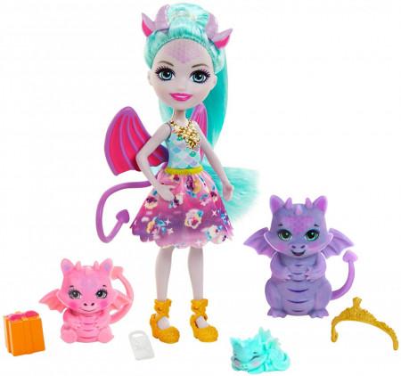 Set de joaca Familia Deanna Dragon Enchantimals Royal
