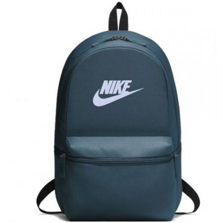 Ghiozdan rucsac Nike Air gri-albastru, cu buzunar frontal