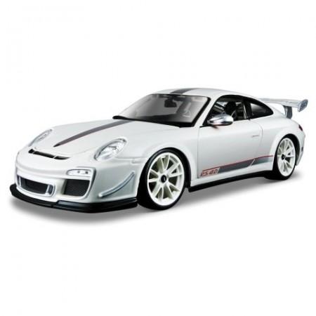 Masinuta Porsche 911 GTS RS 4.0 Alb 1/18 Bburago