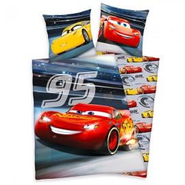 Lenjerie de pat care lumineaza in intuneric Cars Disney 140x200 cm