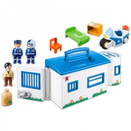 Set de joaca Statia de polite portabila Playmobil 1-2-3