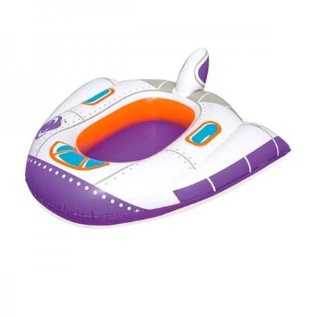 Barcuta gonflabila in forma de avion pentru bebelusi 104x99 cm