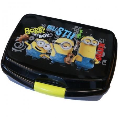 Cutie pentru pranz neagra Minions
