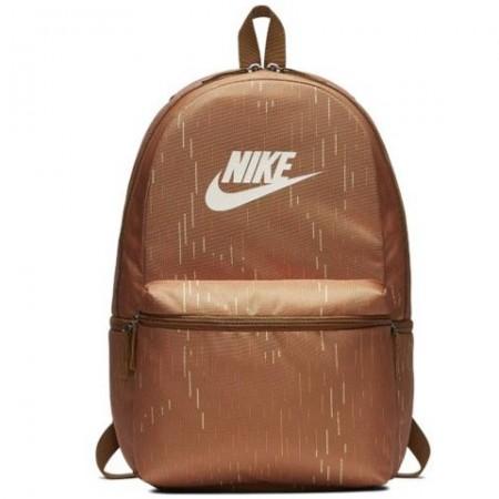 Ghiozdan rucsac Nike maro cu buzunar frontal, dimensiune 50 cm