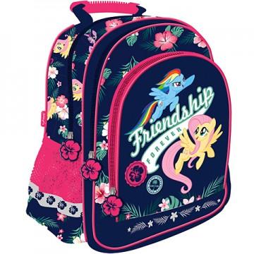Ghiozdan scoala cu 3 compartimente My Little Pony 38 cm