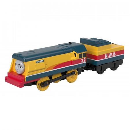 Locomotiva cu Vagon Metalica Rebecca Thomas&Friends Track Master