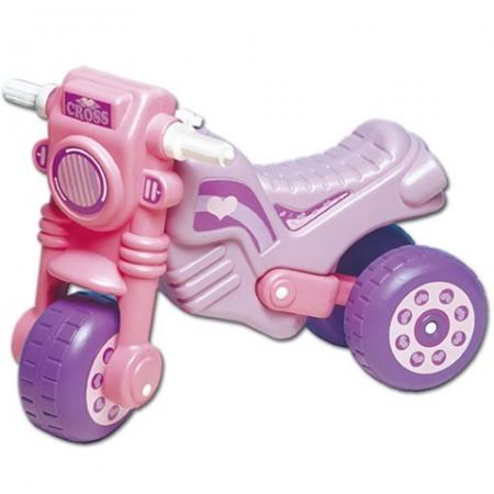 Motocicleta fara pedale roz cu mov Cross
